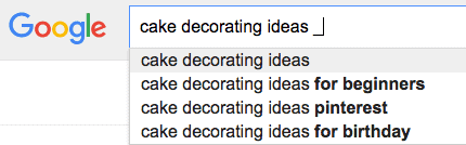 finding your own profitable niche, Google auto suggest