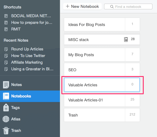 How To Use Evernote to Organise Your Articles