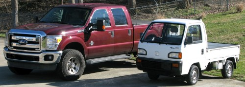 small resolution of my 1991 acty sdx next to a 2012 ford f250 truck