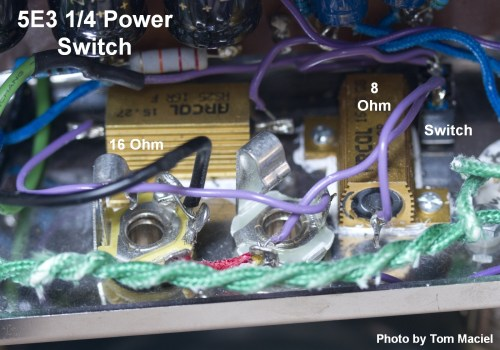 small resolution of large gold colored 25 watt chassis mount resistors with 1 4 power switch at upper right photo by tom maciel