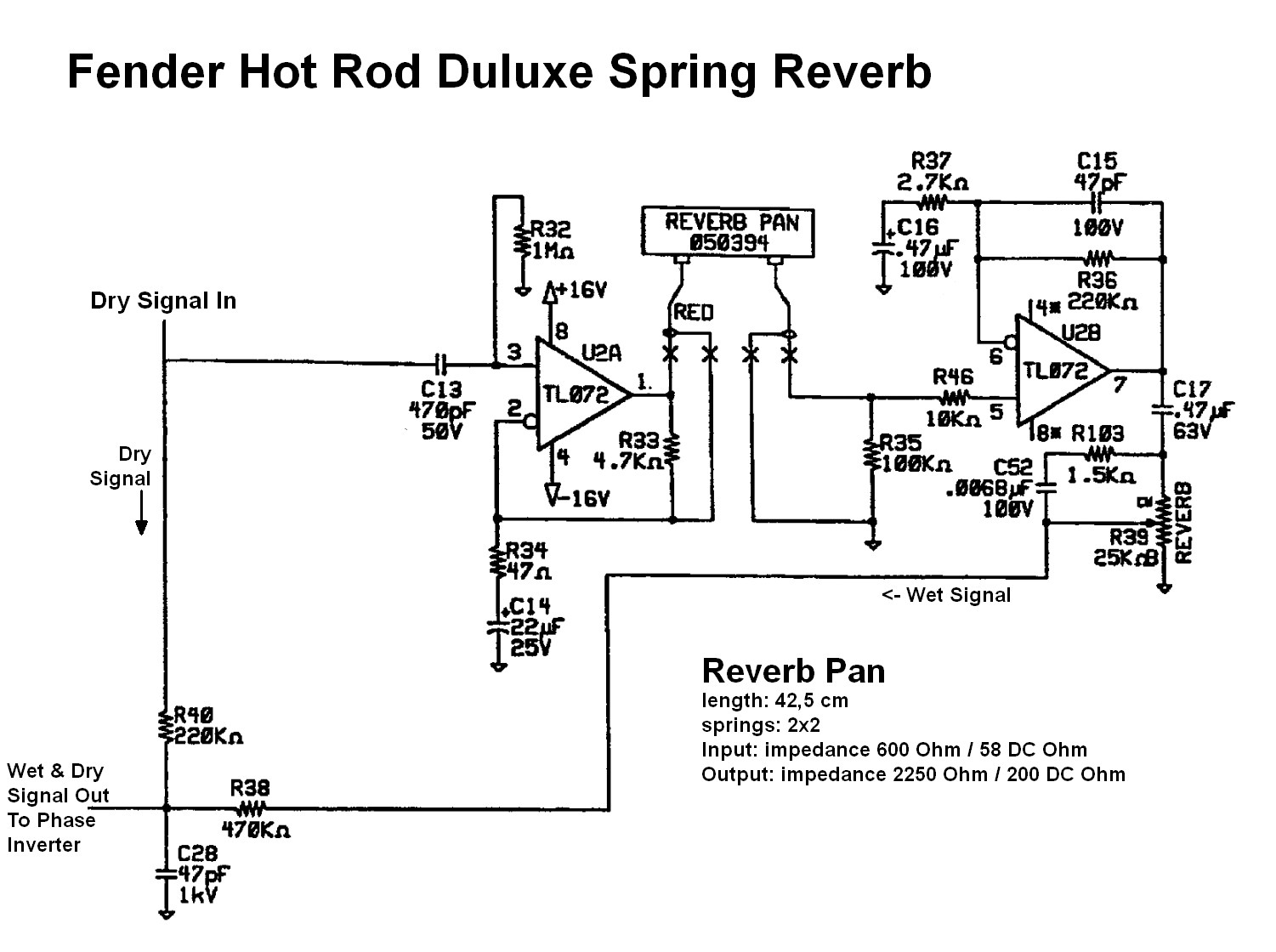 hight resolution of solid state spring reverb
