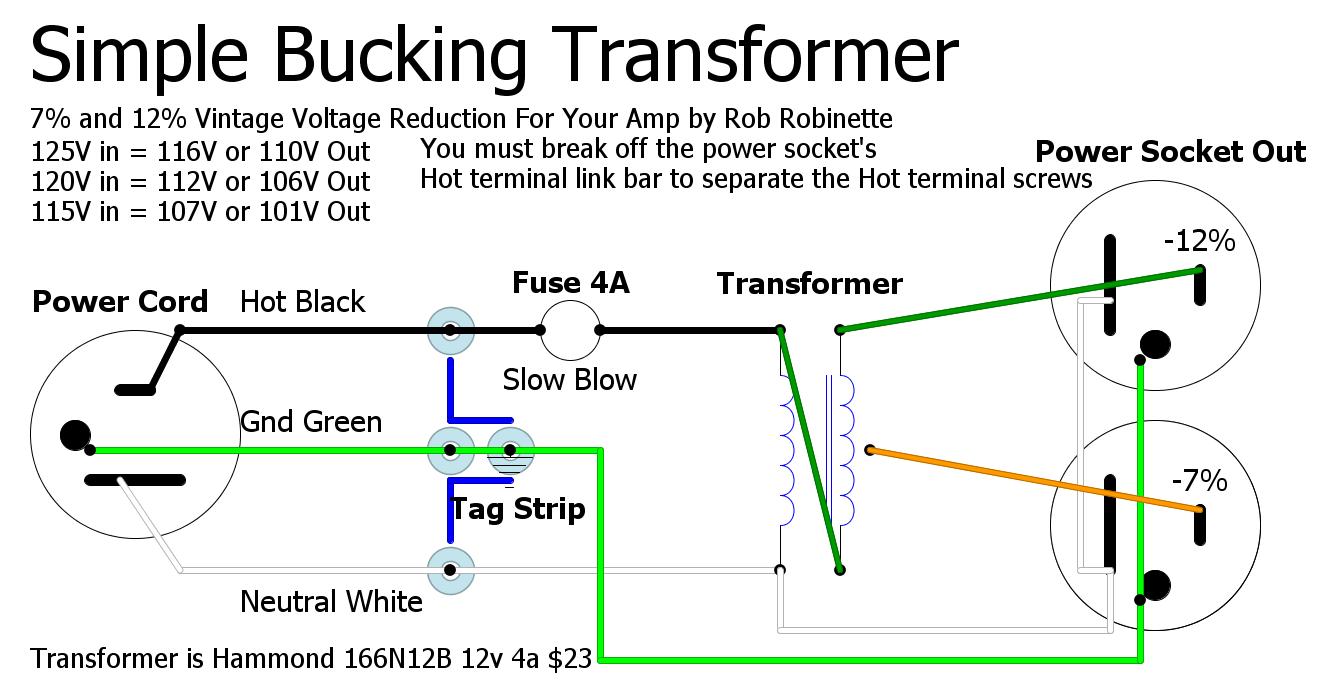 bucking transformer wiring diagram