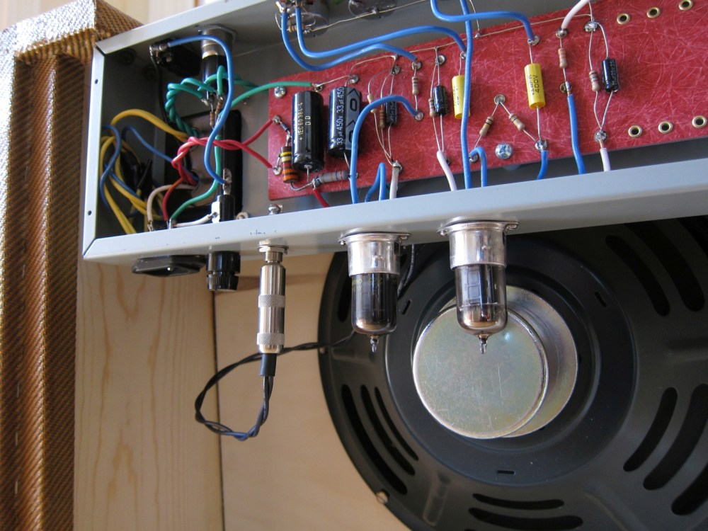 medium resolution of  volume tone master volume pilot light and power switch jeff went with the two tube solid state rectifier option chassis was a 5e3 deluxe blank