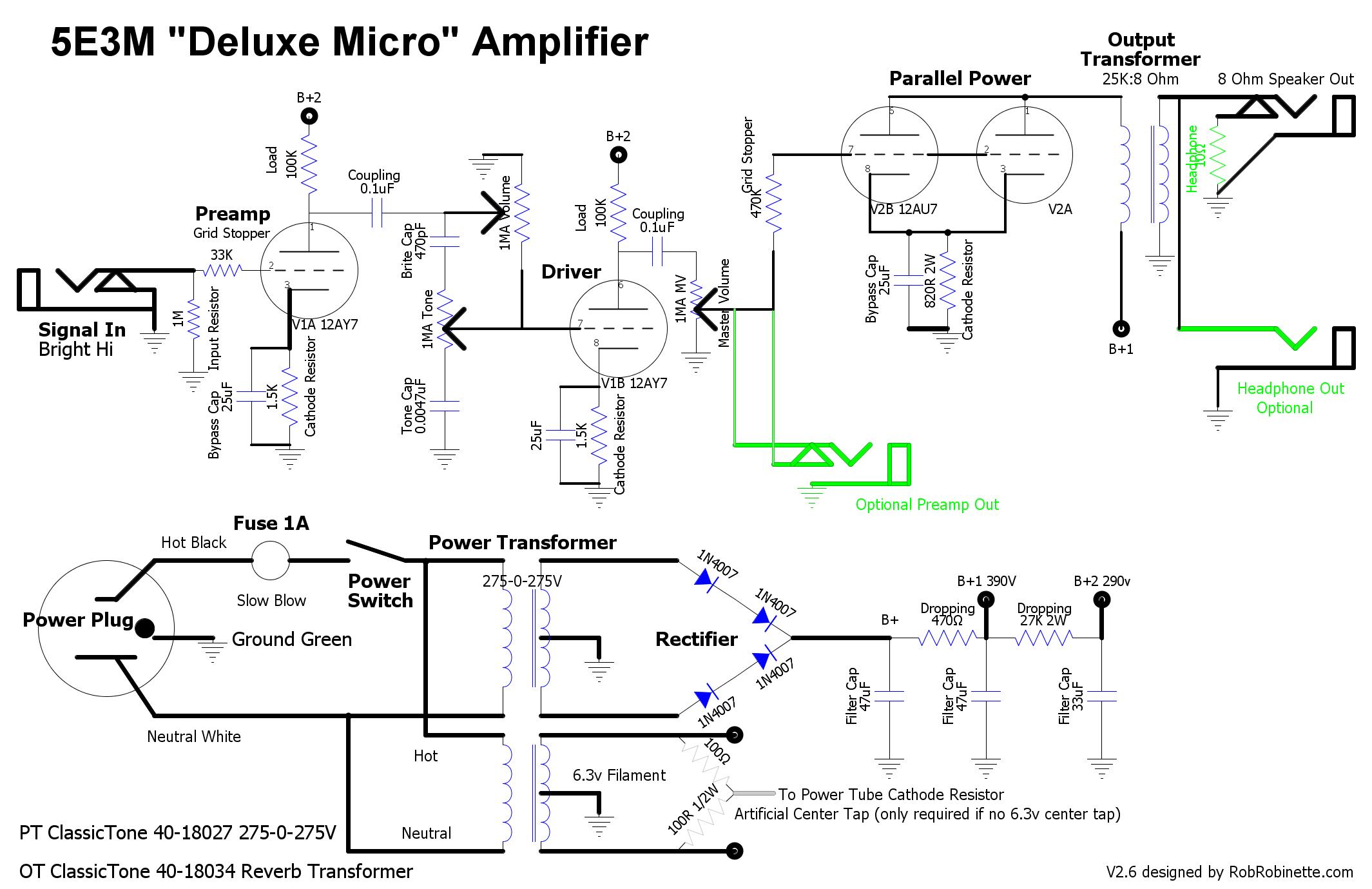 5e3m Deluxe Micro 1 Watt Tweed