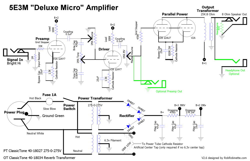 medium resolution of tube guitar pre circuit diagram moreover 6l6 tube schematics diagram likewise simple tube guitar pre schematic on dc supply