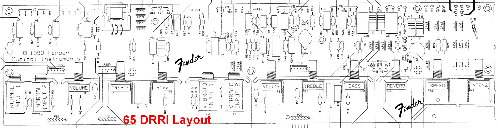hight resolution of 65 deluxe reverb reissue pcb layout