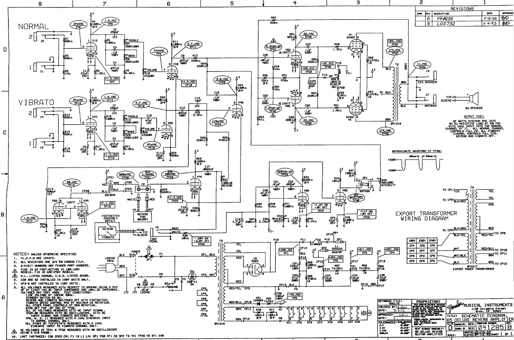 hight resolution of  images guitar deluxe models 65 deluxe reverb reissue schematic jpg