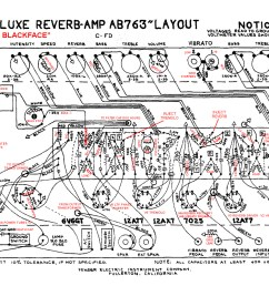 ab763 deluxe reverb layout with annotations [ 1500 x 940 Pixel ]