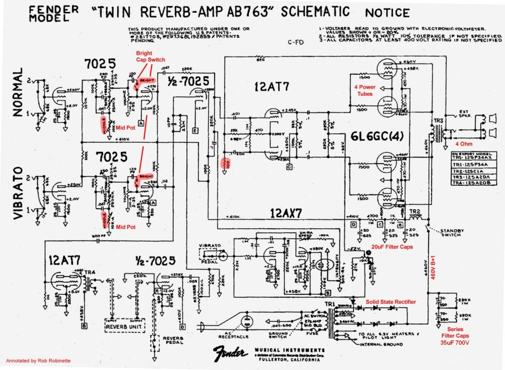 medium resolution of some of the major differences between the twin reverb and other ab763 amps are highlighted