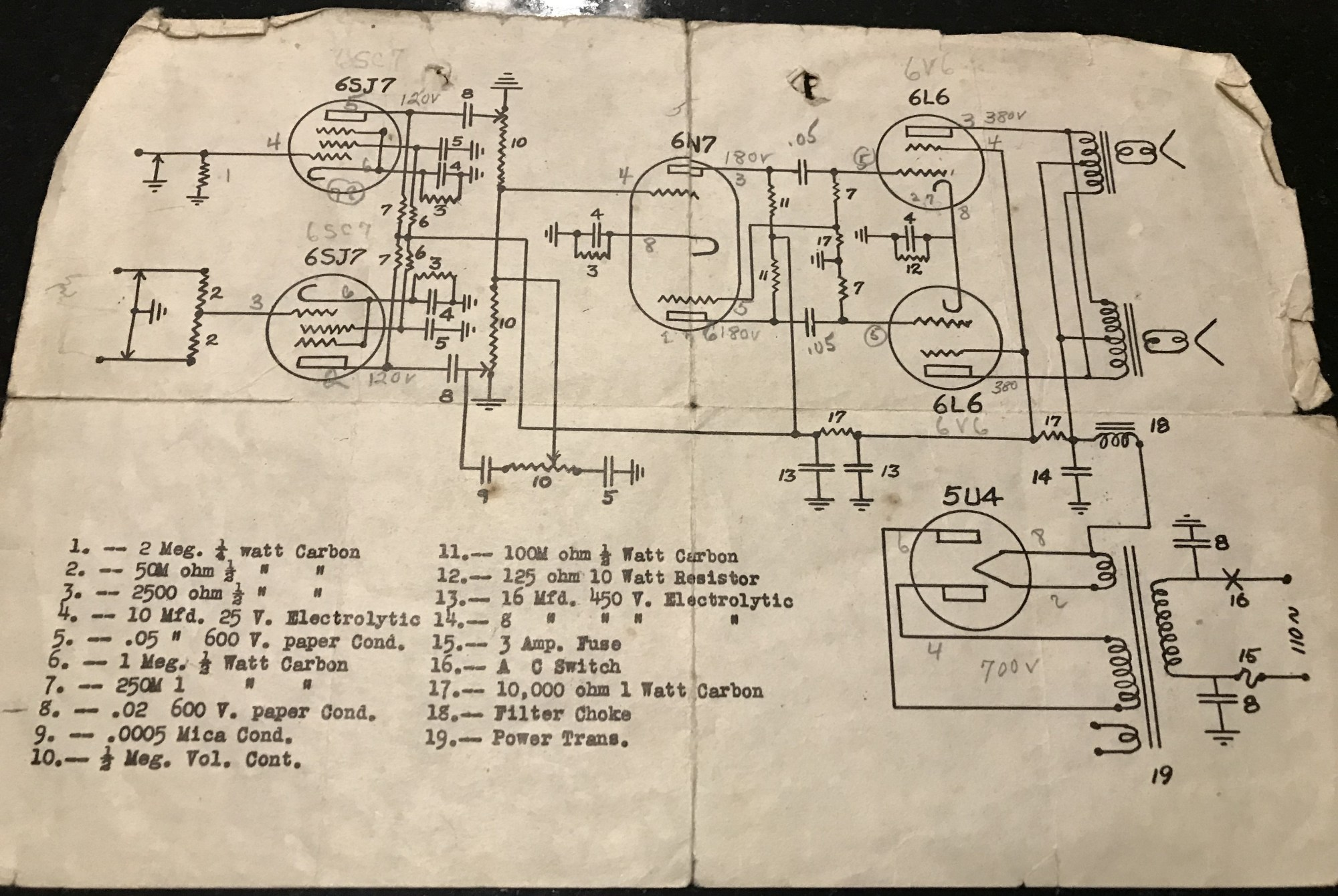 hight resolution of this is an original fender model 26 deluxe schematic schematic provided by jimmy d