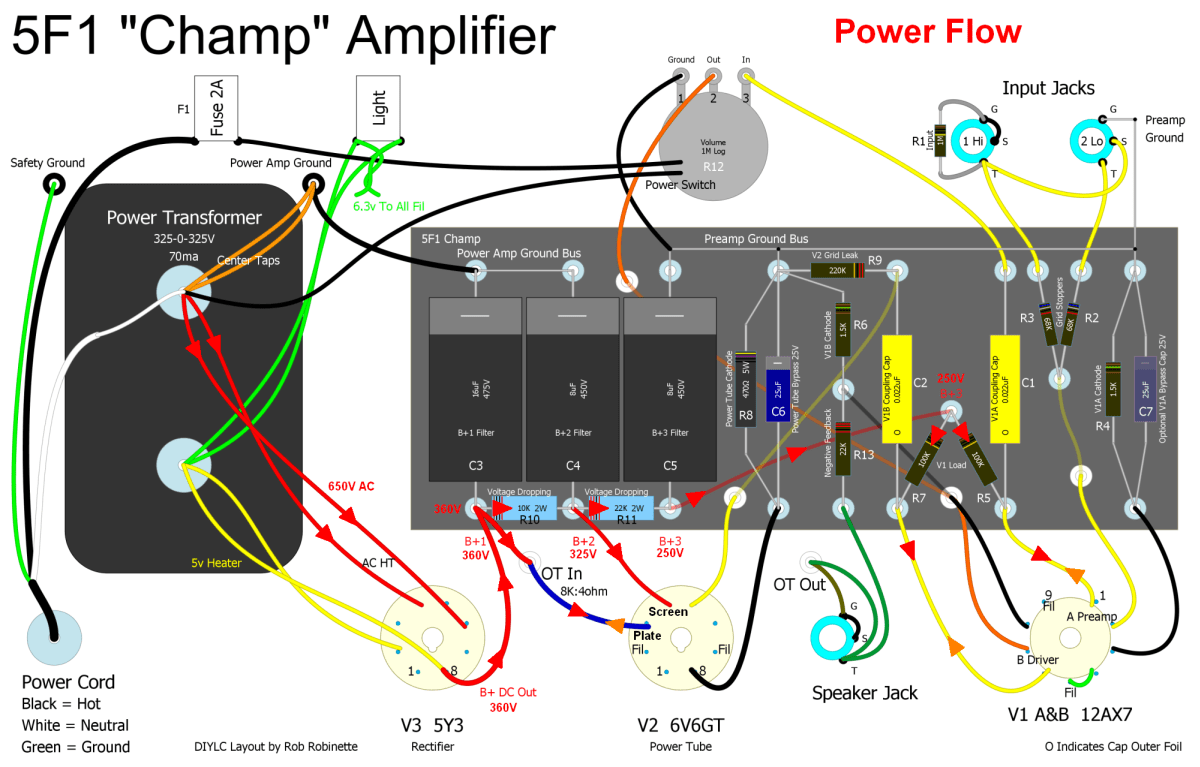 Teisco Spectrum 4 Wiring Diagram Diagrams 2 Pickups Electric Guitar On Amplifier Schematics Hight Resolution Of How Amps Work Amp