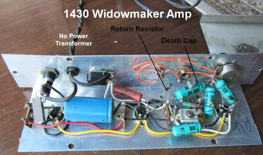 medium resolution of after adding an isolation transformer and three prong power cord we can replace the death cap and return resistor with a jumper wire to unify the amp