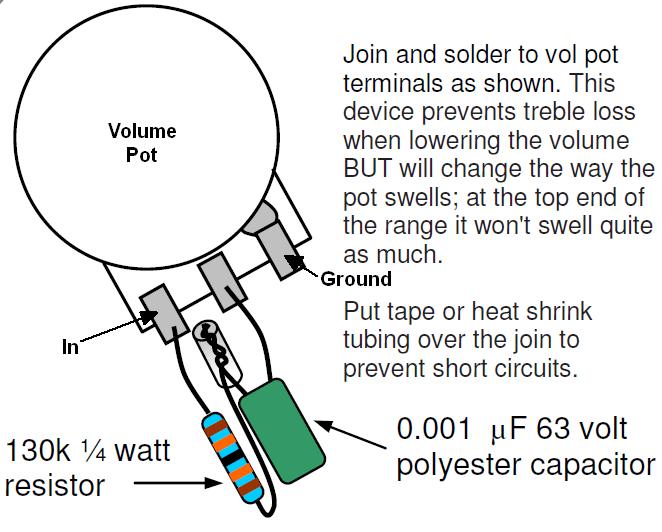 single humbucker pickup wiring diagram 8n ford tractor headlight tele mods kinman treble bleed series circuit