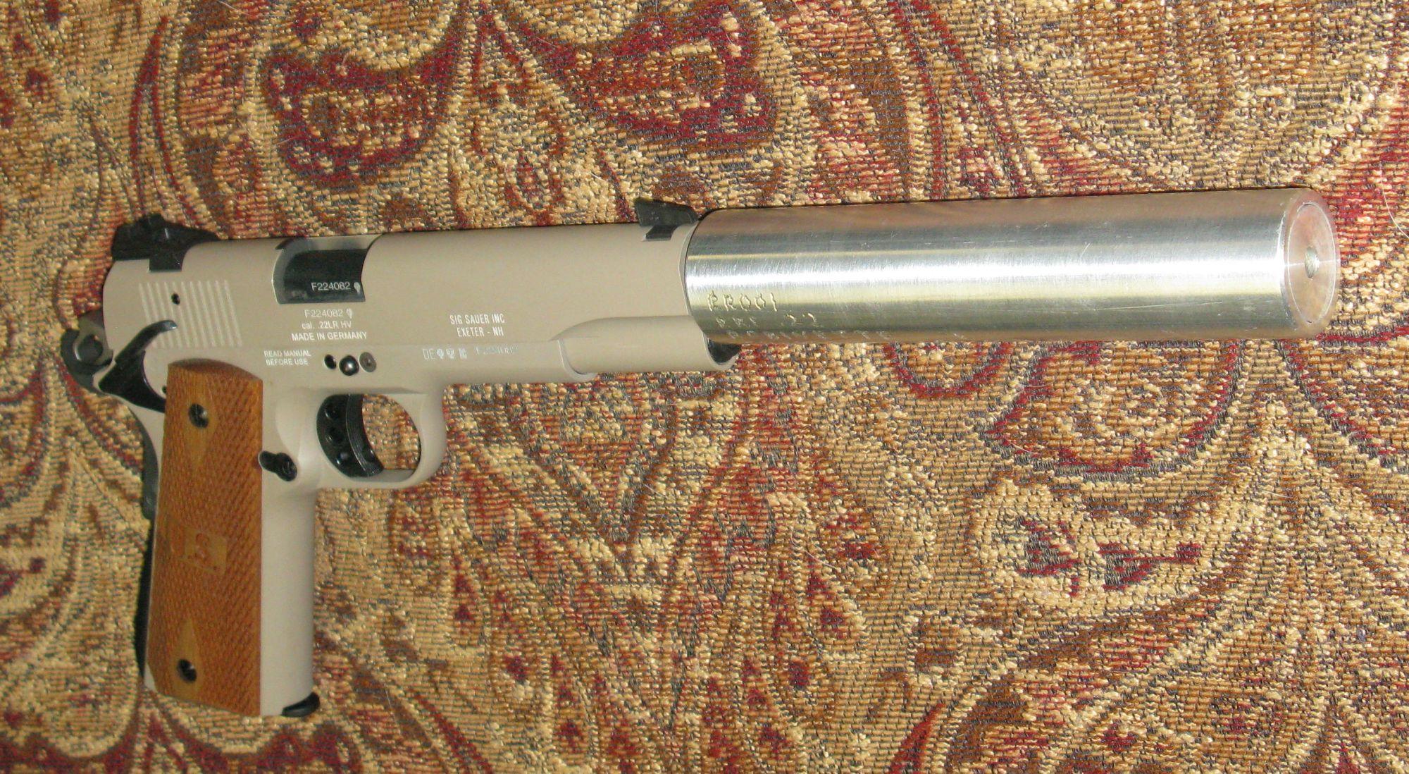 hight resolution of  22 caliber suppressor on sig 1911 22