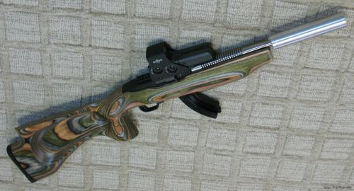 small resolution of this is a shorter 6 inch long by 1 1 4 inch 22 suppressor i made with form 1 tax stamp mounted on my nfa registered short barreled rifle ruger 10 22 with