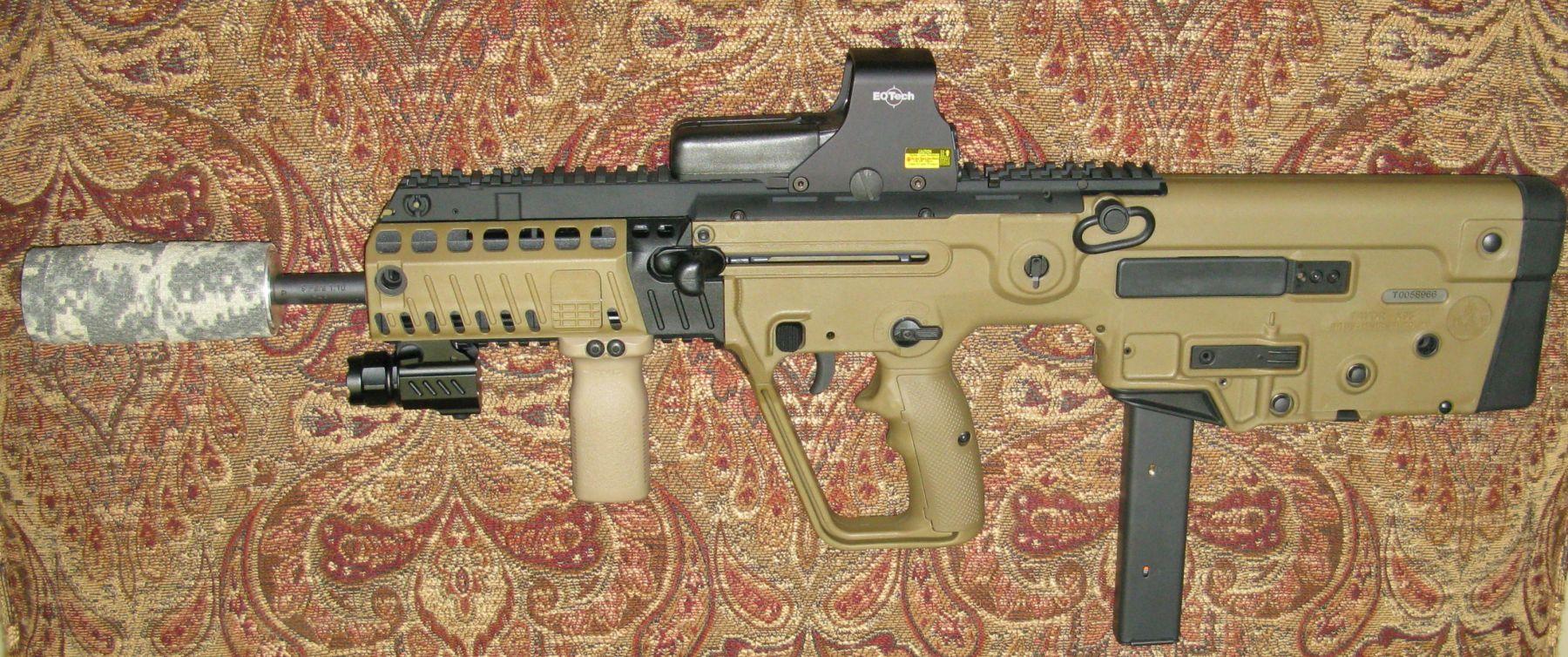 hight resolution of 9mm tavor x95 with suppressor