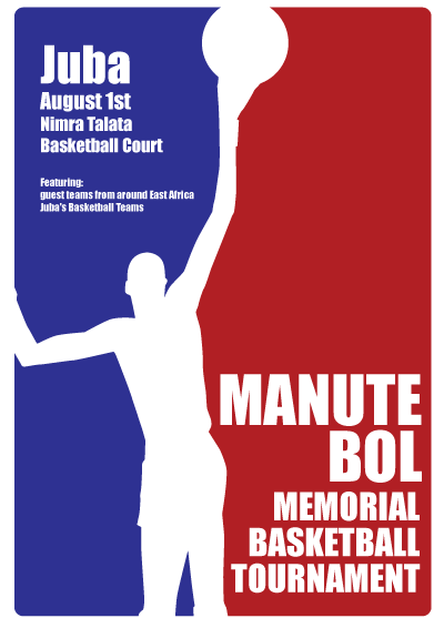 Manute Bol poster tribute south sudan rooker design concept