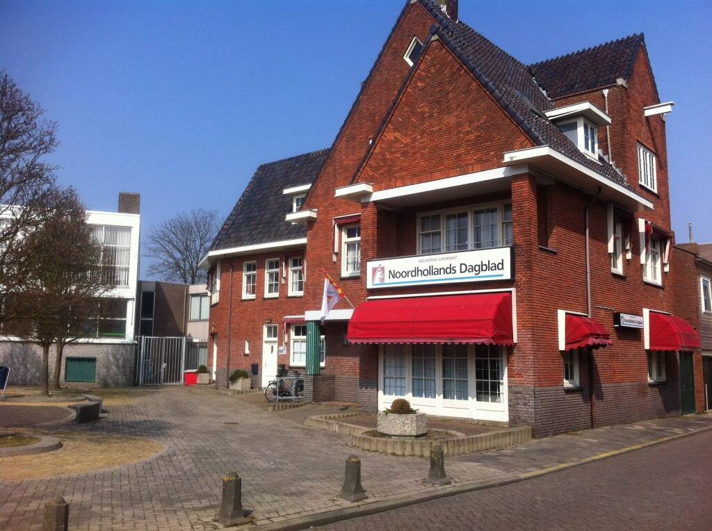 Het redactiekantoor van de Helderse Courant aan de Prins Hendriklaan in het centrum van Den Helder. Foto Hedzer Faber