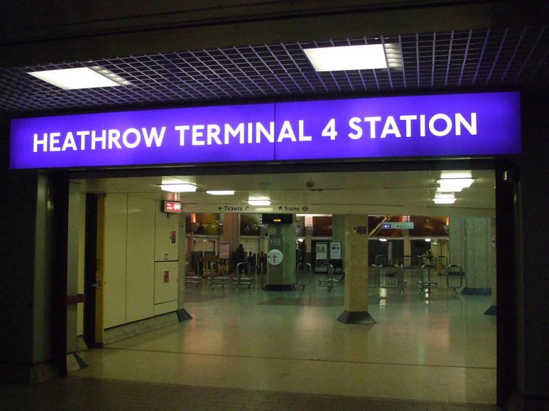 Heathrow Terminal 4 tube entrance