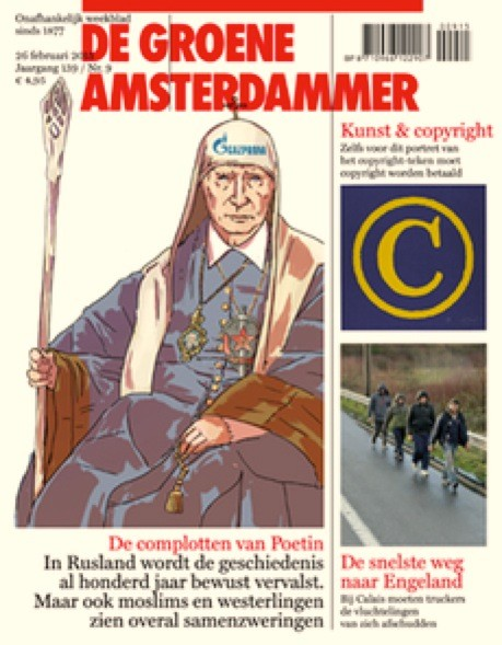 Copyright van Rob Scholte op cover Groene Amsterdammer