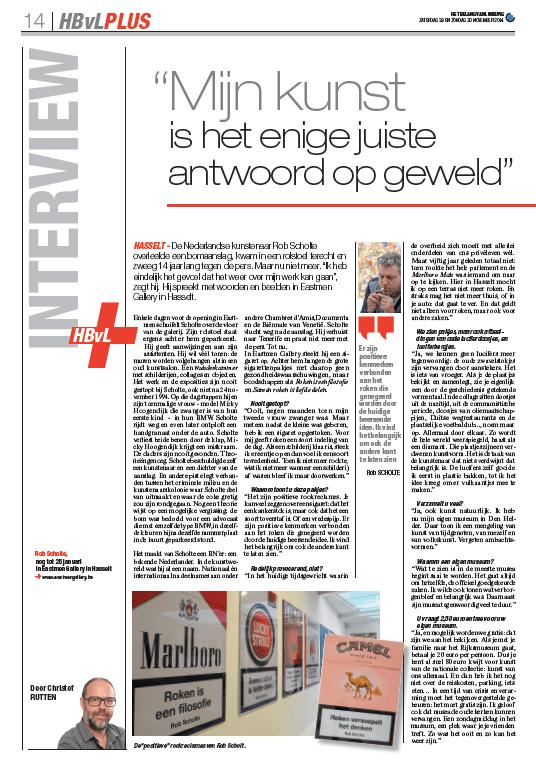 Interview Het Belang van Limburg 1
