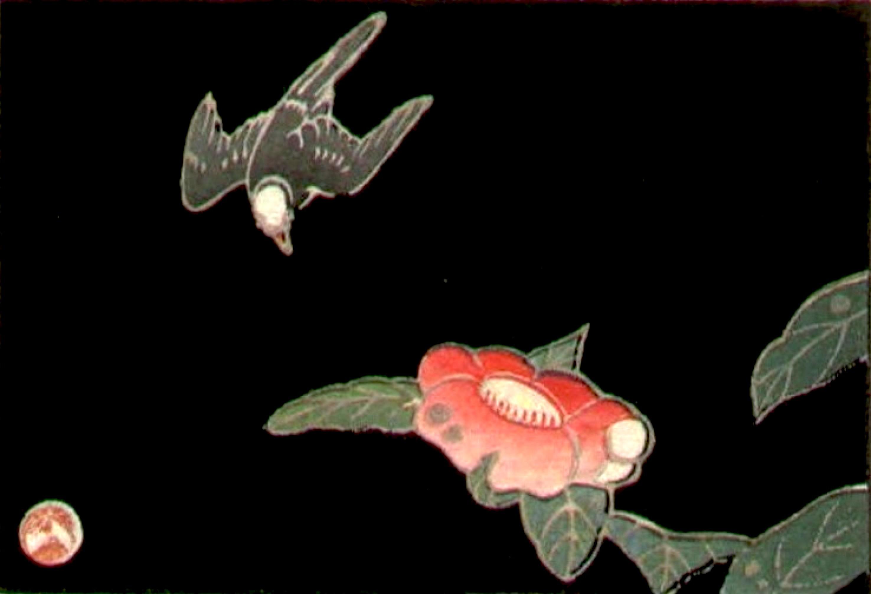 Ito Jakuchu – Swallow and Camellia