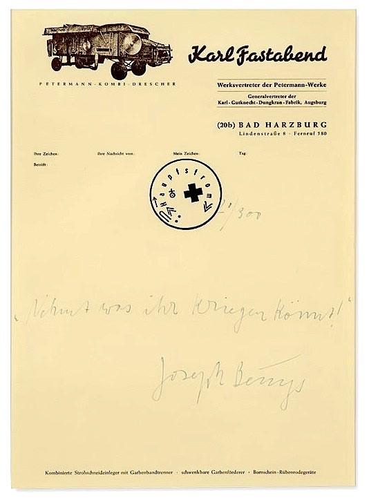 Joseph Beuys – Nehmt was ihr kriegen könnt! (1)