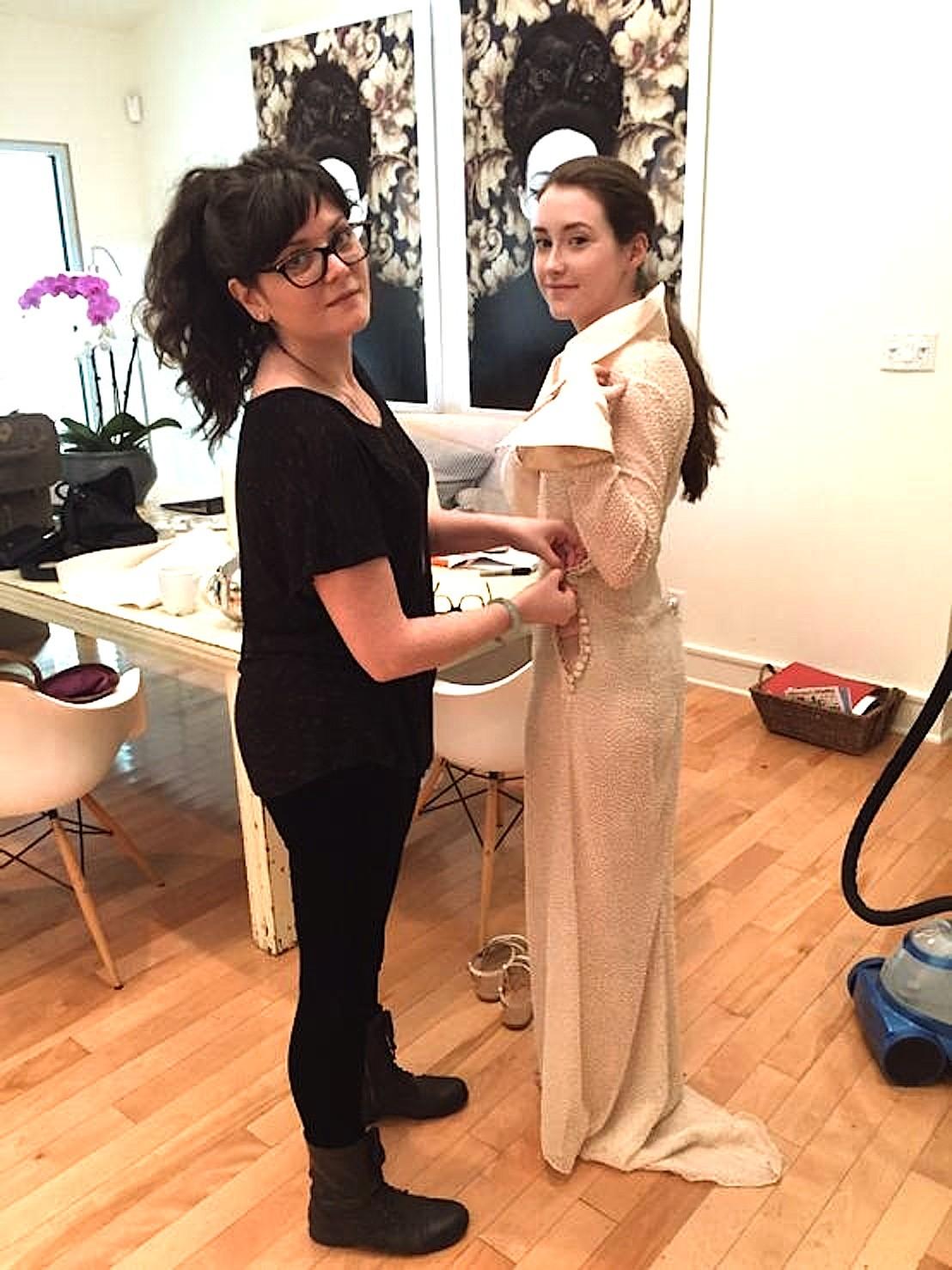 Kate wearing Micky Hoogendijk's first wedding dress