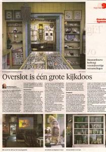 Matthie Bergman - Overslot is één grote kijkdoos (Alkmaarse Courant, 22 oktober 2016)