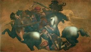Anoniem – Kopie naar Leonardo da Vinci's Slag bij Anghiari