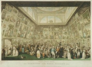 Johann Heinrich Ramberg - The Exhibition of the Royal Academy (gravure Pietro Antonio Martini)