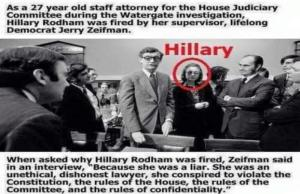 Watergate attorney and CIA asset Hillary Rodham Clinton (foto daithilife.files)