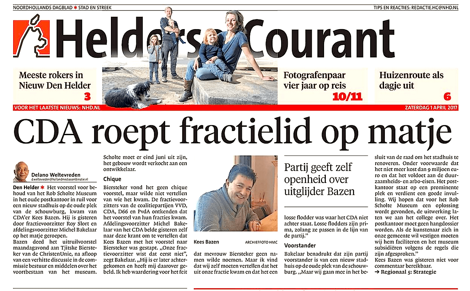 Noordhollands Dagblad, 1 april 2017