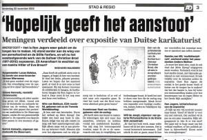 Wichard Maassen, AD, 22 november 2012