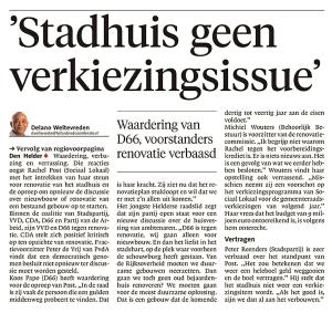 Delano Weltevreden - 'Stadhuis geen verkiezingsissue'