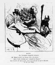 Spotprent op Olympia van Edouard Manet