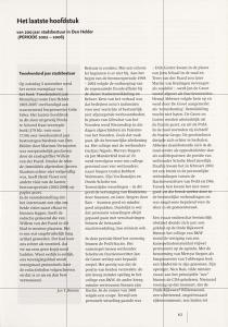 Willem van der Paard - Het laatste hoofdstuk van 200 jaar stadsbestuur in Den Helder PERIODE 2002-2006 (1)