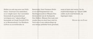 Willem van der Paard - Het laatste hoofdstuk van 200 jaar stadsbestuur in Den Helder PERIODE 2002-2006 (8)