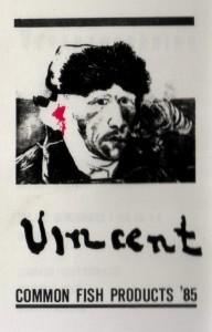 "Achterkant ""De modellen van Van Gogh' Vincent Common Fish Products '85"