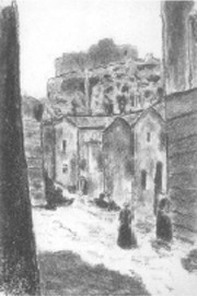 fig. 6a Street in Les-Baux (from the so-called Album japonais)