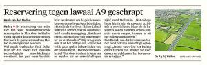 Alkmaarse Courant, 8 november 2017