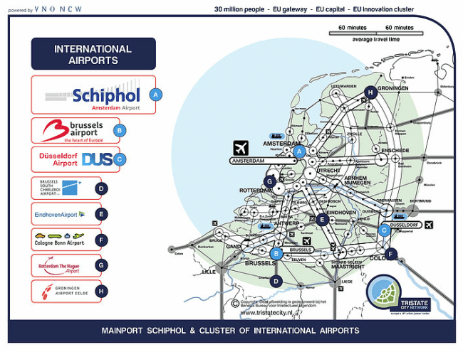 Mainport Schiphol & cluster of international airports