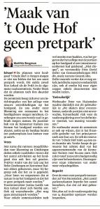 Alkmaarse Courant, 29 november 2017