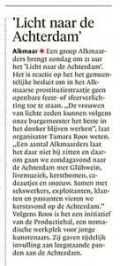 Alkmaarse Courant, 22 december 2017
