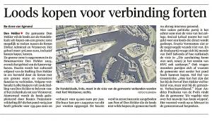 Bo-Anne van Egmond - Loods kopen voor verbinding forten, Helderse Courant, 31 januari 2018