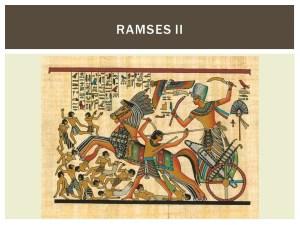 Ramses II in zijn strijdwagen (5)