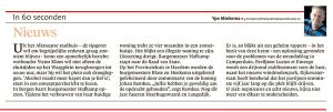 Alkmaarse Courant, 12 januari 2018