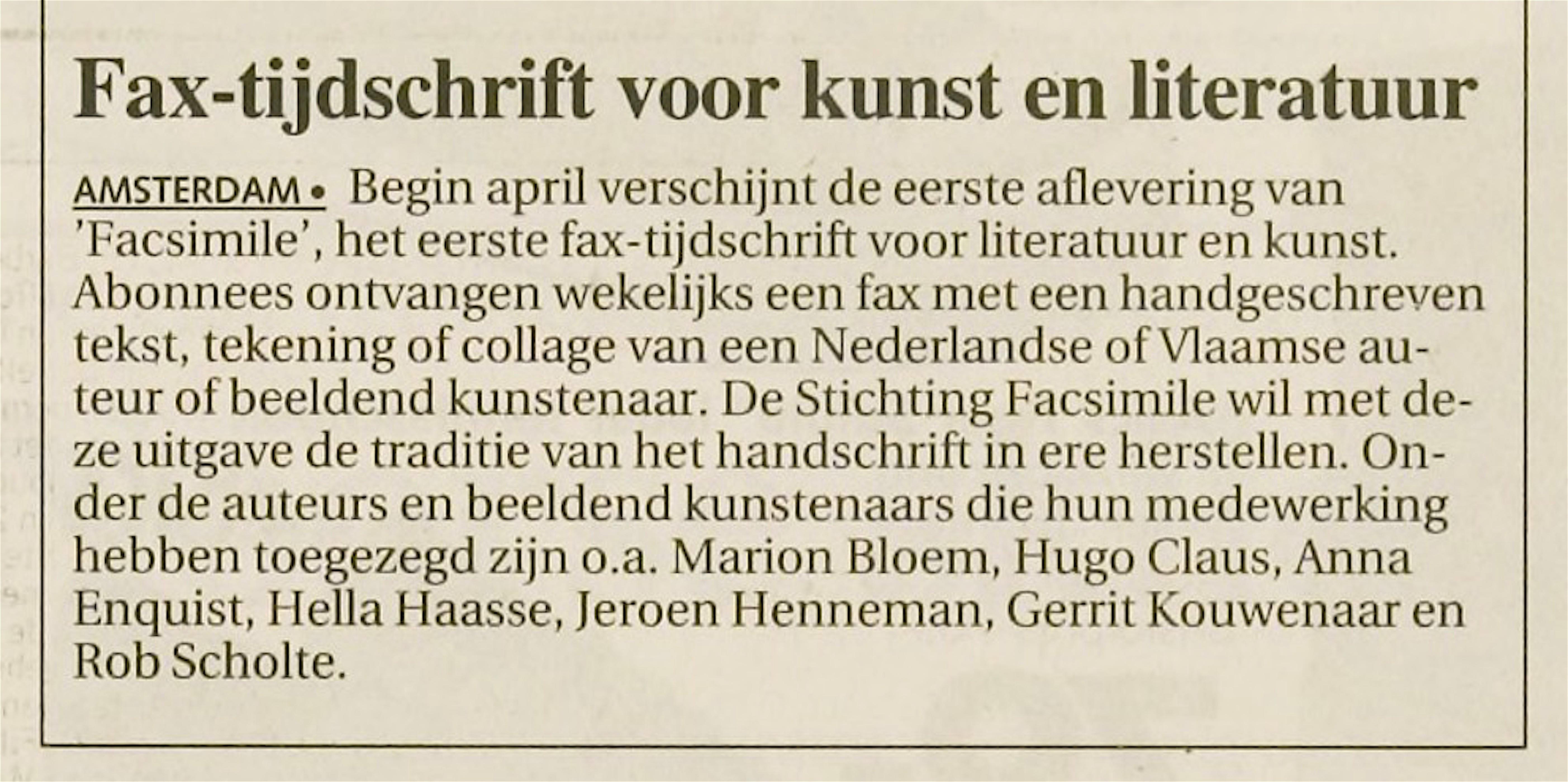 Leidsch Dagblad   9 februari 1994   pagina 21 (21/26)