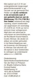 Openbare bekendmaking, Helderse Courant, 8 februari 2018