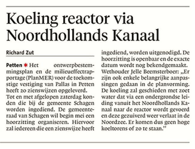 Alkmaarse Courant, 12 april 2018